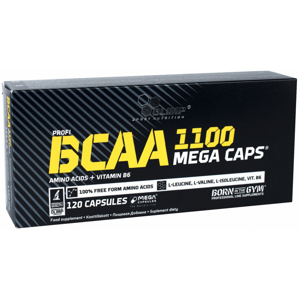 BCAA Mega Caps 1100 blister 120 капсул