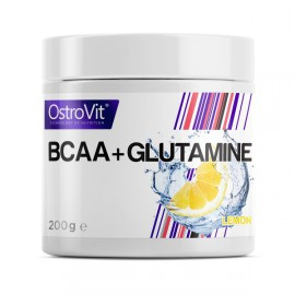 BCAA + GLUTAMINE 200 грамм - lemon